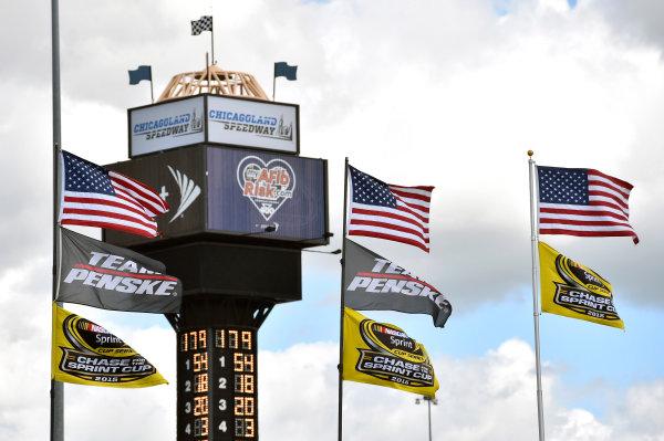 18-20 September 2015, Joliet, Illinois USA Team Penske flags ? 2015, Nigel Kinrade LAT Photo USA