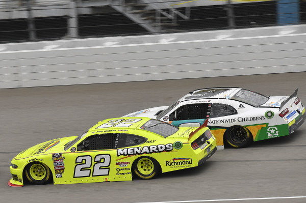 #22: Paul Menard, Team Penske, Ford Mustang Menards/Richmond and #9: Tyler Reddick, JR Motorsports, Chevrolet Camaro Nationwide Children's