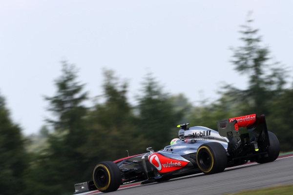 Sergio Perez (MEX) McLaren MP4-28. Formula One World Championship, Rd9, German Grand Prix, Qualifying, Nurburgring, Germany, Saturday 6 July 2013.