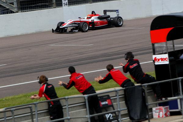 2014 Cooper Tires British Formula 3 International Series, Rockingham Motor Speedway, Northamptonshire. 4th - 5th May 2014.  Hongwei Cao (CHN) Fortec Motorsports Dallara Mercedes. World Copyright: Ebrey / LAT Photographic.