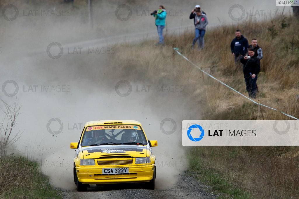 2014 MSA British Rally Championship, Pirelli Carlisle R B Foundation Rally. 3rd - 4th May 2014. Neil Matthews / Claire Williams Vauxhall Nova. World Copyright: Ebrey / LAT Photographic.