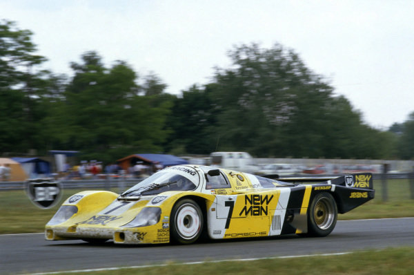 Le Mans, France. 15th - 16th June 1985.Klaus Ludwig/Paolo Barilla/John Winter (Porsche 956), 1st position, action. World Copyright: LAT Photographic.Ref: 85LM08.