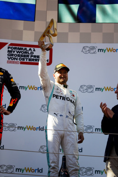 Valtteri Bottas, Mercedes AMG F1 on the podium on the podium