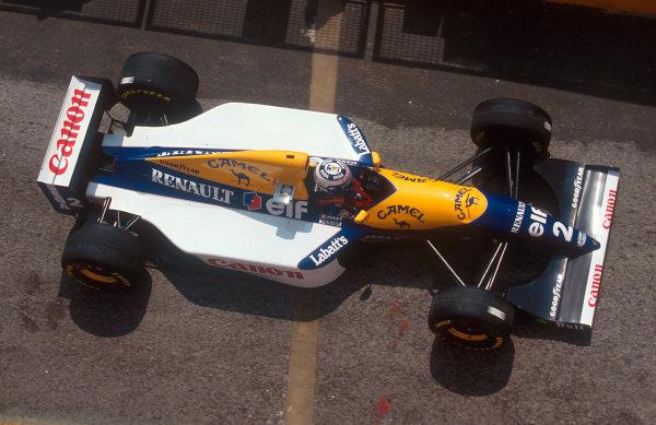 1993 San Marino Grand Prix.Imola, Italy.23-25 April 1993.Alain Prost (Williams FW15C Renault) 1st position.Ref-93 SM 09.World Copyright - LAT Photographic