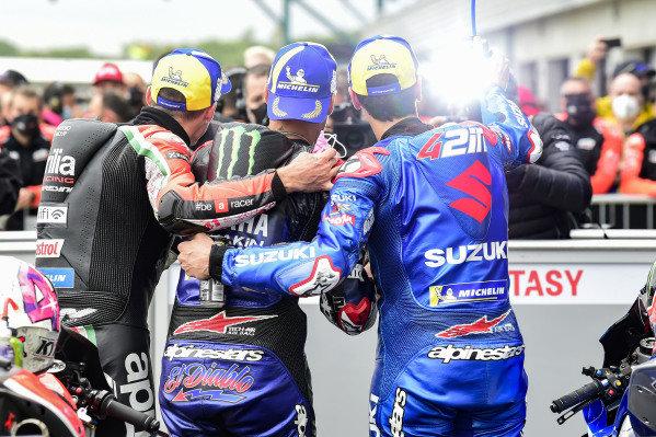 Alex Rins, Team Suzuki MotoGP, Fabio Quartararo, Yamaha Factory Racing, Aleix Espargaro, Aprilia Racing Team Gresini.
