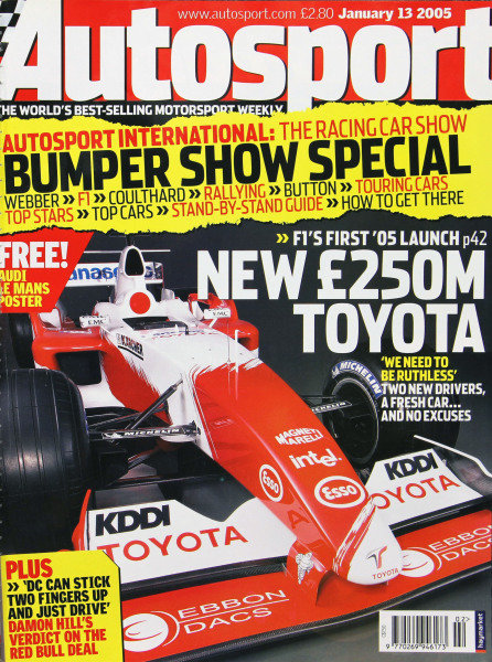 Cover of Autosport magazine, 13th January 2005