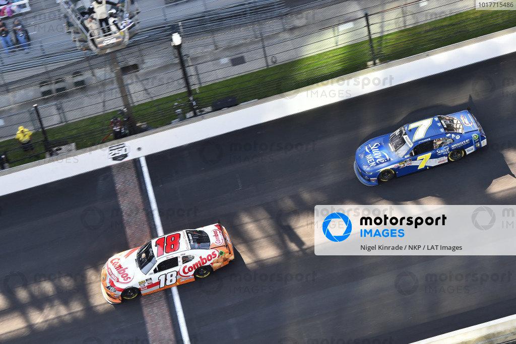 #18: Kyle Busch, Joe Gibbs Racing, Toyota Supra Combos celebrates his win