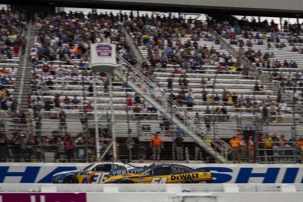#54: Christopher Bell, Joe Gibbs Racing, Toyota Supra DEWALT takes the checkered flag to win