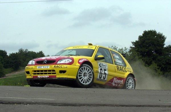 JWRC winner Daniel Sola (ESP), Citroen Saxo Super 1600, on Stage 21.Fia World Rally Championship, Rd10, Rallye Deutschland, Germany, Leg 3, 25 August 2002.DIGITAL IMAGE