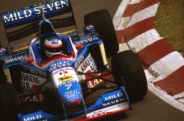 Buenos Aires, Argentina.11-13 APRIL 1997.Jean Alesi (Benetton B197 Renault) 7th position. World Copyright - LAT Photographic