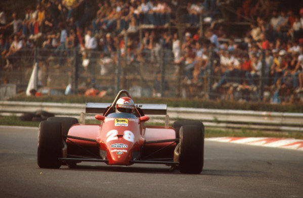 Monza, Italy.10-12 September 1982.Mario Andretti (Ferrari 126C2) 3rd position.Ref-82 ITA 19.World Copyright - LAT Photographic