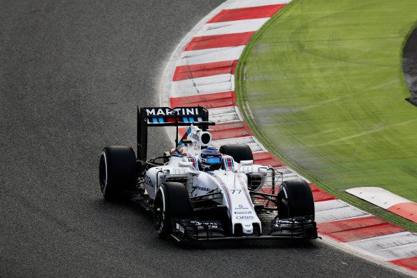 Circuit de Catalunya, Barcelona, Spain Monday 22 February 2016. Valtteri Bottas, Williams FW38 Mercedes. World Copyright: Alastair Staley/LAT Photographic ref: Digital Image _R6T6512