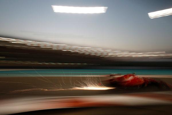 Yas Marina Circuit, Abu Dhabi, United Arab Emirates. Saturday 28 November 2015. Kimi Raikkonen, Ferrari SF15-T.  World Copyright: Glenn Dunbar/LAT Photographic ref: Digital Image _W2Q8639