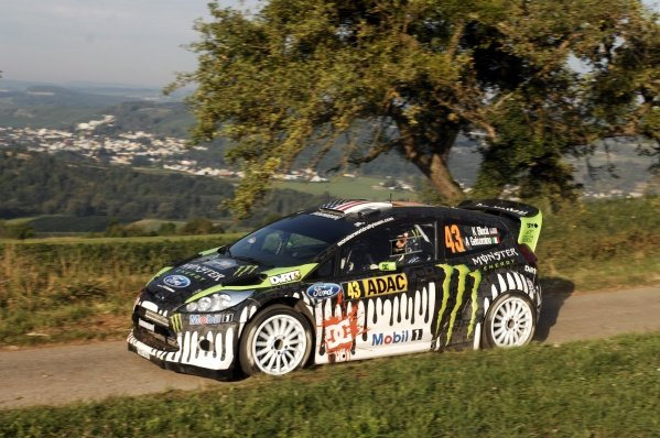 Ken Block (USA), Ford Fiesta RS WRC, on the shakedown stage.World Rally Championship, Rd9, ADAC Rally Deutschland, Trier, Germany. Shakedown, Thursday 18 August 2011.