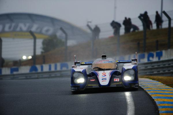 9th June, 2013, Le Mans, France Toyota Racing: Kazuki Nakajima, Alexander Wurz, Nicolas Lapierre.(c) 2013, Camden Thrasher LAT Photo USA