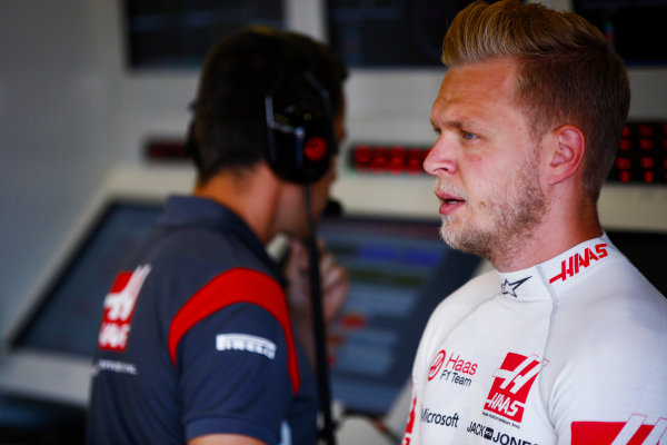 Baku City Circuit, Baku, Azerbaijan. Friday 23 June 2017. Kevin Magnussen, Haas F1.  World Copyright: Andy Hone/LAT Images ref: Digital Image _ONY8019