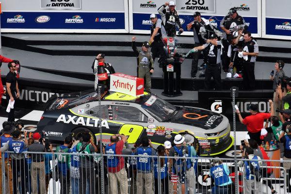 NASCAR XFINITY Series Coca-Cola Firecracker 250 Daytona International Speedway, Daytona Beach, FL USA Saturday 1 July 2017 William Byron, AXALTA / Vorteq Chevrolet Camaro, wins the Firecracker 250 at Daytona. World Copyright: John K Harrelson LAT Images