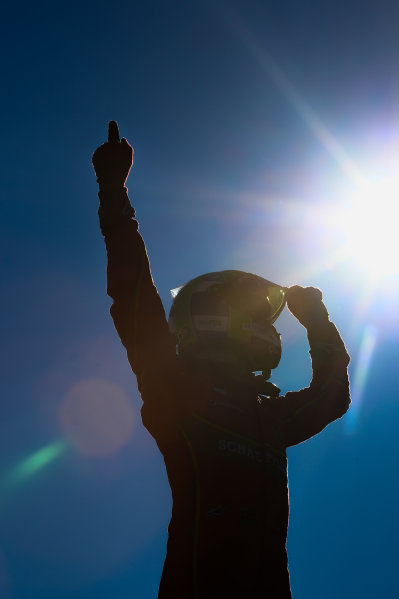 2016/2017 FIA Formula E Championship. Round 11 - Montreal ePrix, Canada Sunday 1 January 2012. Lucas Di Grassi (BRA), ABT Schaeffler Audi Sport, Spark-Abt Sportsline, ABT Schaeffler FE02, celebrates after winning the race. Photo: Patrik Lundin/LAT/Formula E ref: Digital Image PL1_2470 copy