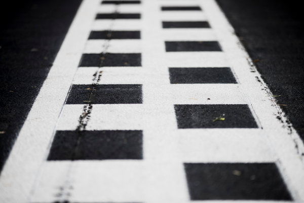2017 FIA Formula 2 Round 9. Autodromo Nazionale di Monza, Monza, Italy. Thursday 31 August 2017. A view of the finish line. Photo: Zak Mauger/FIA Formula 2. ref: Digital Image _54I4822