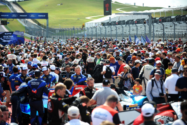 2017 FIA World Endurance Championship, COTA, Austin, Texas, USA. 14th-16th September 2017, Grid for the race,  World Copyright. May/JEP/LAT Images