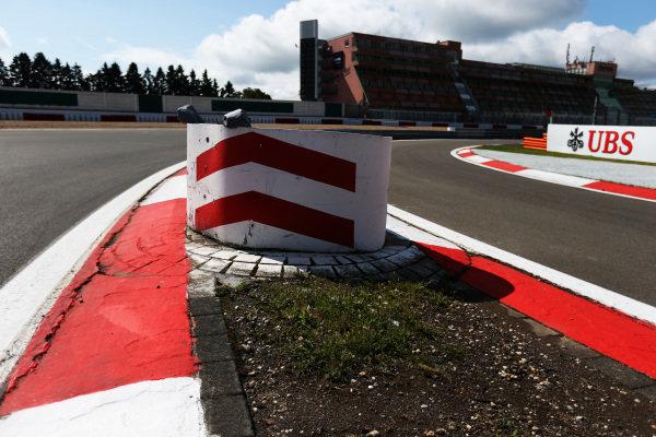 Kerb and bollard. Formula One World Championship, Rd9, German Grand Prix, Preparations, Nurburgring, Germany, Thursday 4 July 2013.