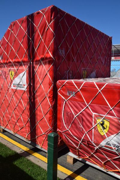 Ferrari freight.Formula One World Championship, Rd1, Australian Grand Prix, Preparations, Albert Park, Melbourne, Australia, Sunday 9 March 2014.