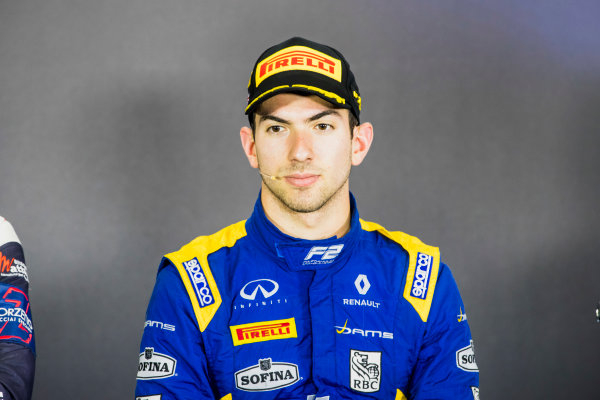 2017 FIA Formula 2 Round 6. Silverstone, Northamptonshire, UK. Sunday 16 July 2017. Nicholas Latifi (CAN, DAMS).  Photo: Zak Mauger/FIA Formula 2. ref: Digital Image _56I0847