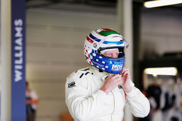 Williams 40 Event Silverstone, Northants, UK Friday 2 June 2017. A driver prepares for a run in a Carlos Reutemann Williams FW07b. World Copyright: Zak Mauger/LAT Images ref: Digital Image _54I0005