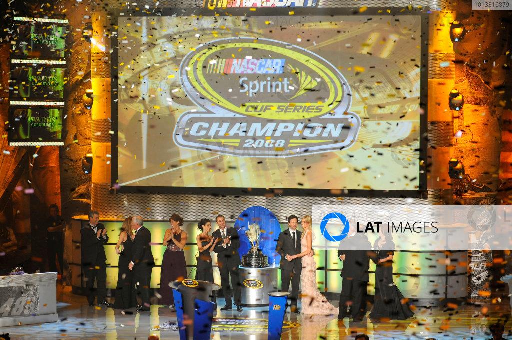 1-5 December, 2008, New York, New York USAThe top table celebrates Jimmie Johnson's Championship©2008, LAT South, USALAT Photographic