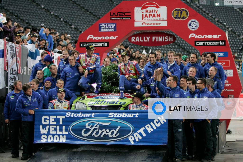 Round 14, Rally Japan30th October - 2nd November 2008Podium, Ford WRC TeamWorldwide Copyright: McKlein/LAT
