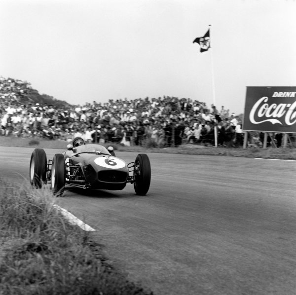 Zandvoort, Holland. 6 June 1960.Jim Clark (Lotus 18-Climax) on his debut, action. World Copyright: LAT Photographic.Ref:  6545.