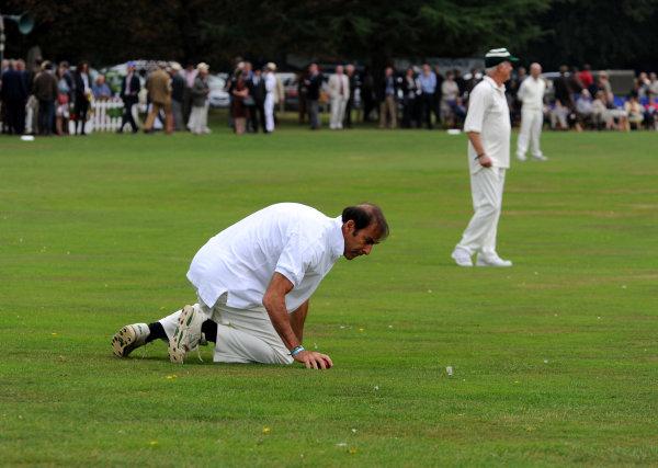 2014 Goodwood Revival Meeting Goodwood Estate, West Sussex, England 12th - 14th September 2014 Cricket. Emanuele Pirro.  World Copyright: Jeff Bloxham/LAT Photographic ref: Digital Image DSC_9765