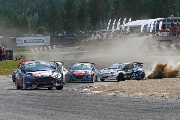 2014 FIA World Rallycross Championship Round 05 H?ljes, Sweden 5th & 6th July 2014 Sebastian Eriksson, Ford, start Worldwide Copyright: McKlein/LAT
