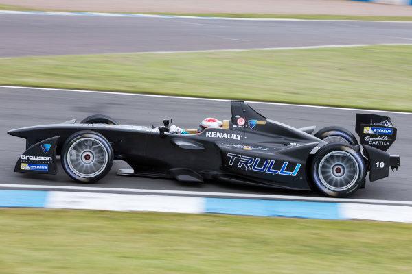 FIA Formula E Test Day, Donington Park, UK.  3rd - 4th July 2014.  Jarno Trulli, Trulli GP. Photo: Malcolm Griffiths/FIA Formula E ref: Digital Image F80P6368