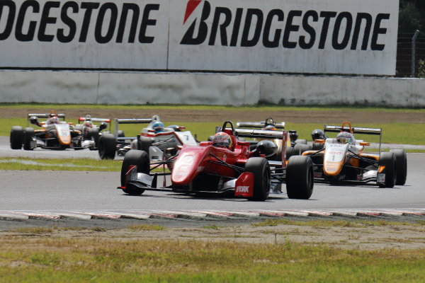2017 Japanese Formula 3 Championship Sugo, Japan. 23rd - 24th September 2017. Rd 19 & 20. Rd 20 Winner Hiroki Otsu ( #2 TODA RACING ) action World Copyright: Yasushi Ishihara / LAT Images. Ref: 2017_JF3_R19&20_017
