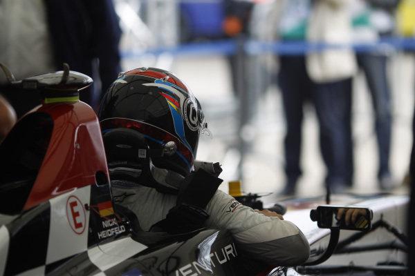 2014/2015 FIA Formula E Championship. Nick Heidfeld (GER)/Venturi Racing - Spark-Renault SRT_01E  Qualif ying Session. Berlin e-Prix, Berlin, Germany, Europe. Saturday 23 May 2015  Photo: Adam Warner/LAT/Formula E ref: Digital Image _A8C8177