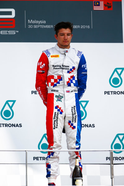 Jake Dennis (GBR, Arden International)  2016 GP3 Series Round 8 Sepang International Circuit, Sepang, Malaysia. Sunday 2 October 2016  Photo: Zak Mauger/GP3 Series Media Service ref: Digital Image _X0W9271