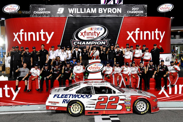 NASCAR XFINITY Series Ford EcoBoost 300 Homestead-Miami Speedway, Homestead, FL USA Saturday 18 November 2017 Sam Hornish Jr, REV/Fleetwood RV Ford Mustang Penske Racing wins the manufacture's Championship World Copyright: Rusty Jarrett LAT Images