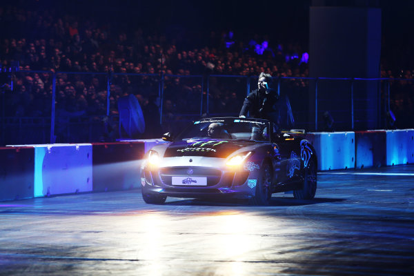 Autosport International Exhibition. National Exhibition Centre, Birmingham, UK. Saturday 13th January 2018. Billy Monger participates in the Live Action Arena.World Copyright: James Roberts/JEP/LAT Images Ref: JR2_4616