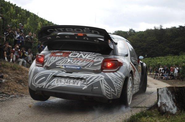 Kimi Raikkonen (FIN), Citroen DS3 WRC, on stage 16. World Rally Championship, Rd9, ADAC Rally Deutschland, Trier, Germany. Day Three, Sunday 21 August 2011.