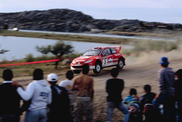 2003 World Rally ChampionshipRally Argentina, Cordoba, Argentina, 7th - 11th May 2003.Harri Rovanpera/Risto Pietilainen (Peugeot 206 WRC), action.World Copyright: LAT Photographicref: 03WRCArg15