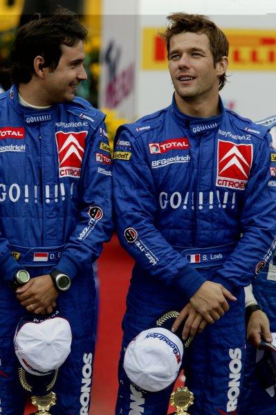 2006 FIA World Rally Champs. Round elevenDeutschland Rally.9th- 13th August 2006.Sebastien Loeb & Daniel Elena, Citroen. Podium.World Copyright: McKlein/LAT