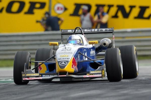 Christian Klien (AUT) ADAC Berlin-Brandenburg, Dallara Mercedes.F3 Euro Series, Rd13 & Rd14, A1-Ring, Austria, 6 September 2003.DIGITAL IMAGE
