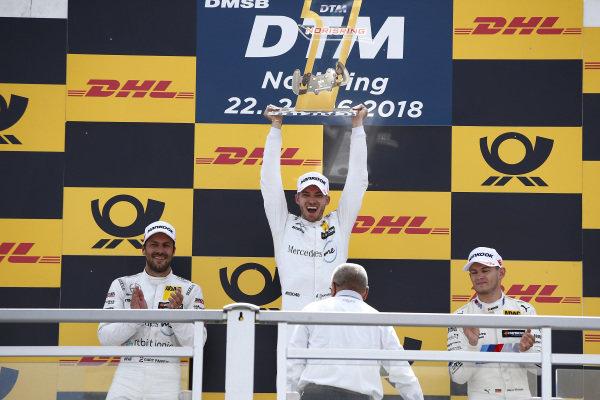 Podium: Race winner Edoardo Mortara, Mercedes-AMG Team HWA , second place Gary Paffett, Mercedes-AMG Team HWA, third place Marco Wittmann, BMW Team RMG.