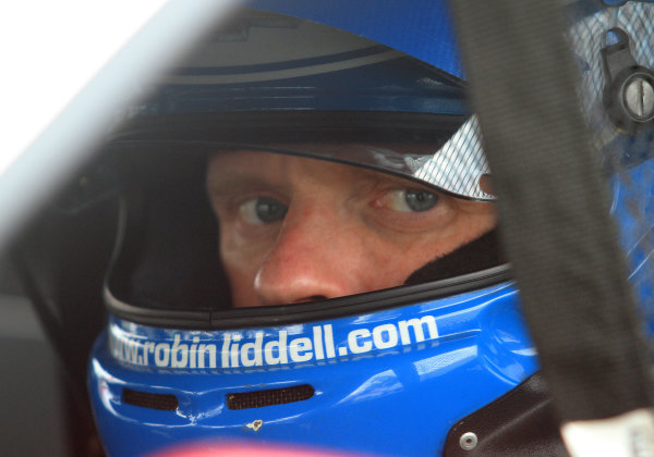 31 May-1 June, 2013, Detroit, Michigan, USA Robin Liddell in his car during practice. ©2013, R D. Ethan LAT Photo USA