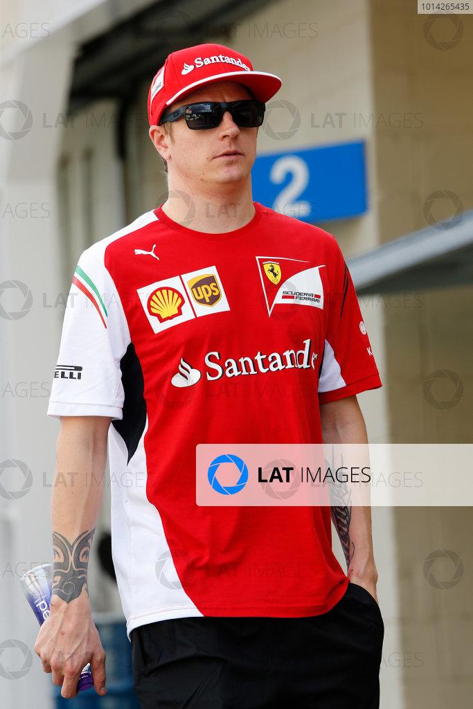 Interlagos, Sao Paulo, Brazil. Friday 7 November 2014. Kimi Raikkonen, Ferrari. World Copyright: Charles Coates/LAT Photographic. ref: Digital Image _J5R3089
