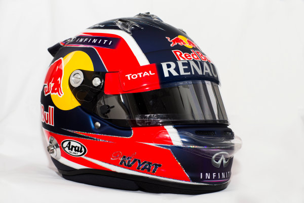 Circuito de Jerez, Jerez, Spain. Tuesday 3 February 2015. Helmet of Daniil Kvyat, Red Bull Racing.  World Copyright: Red Bull Racing (Copyright Free FOR EDITORIAL USE ONLY) ref: Digital Image 2015_RED_BULL_HELMET_14