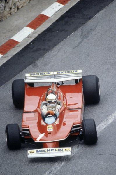 1980 Monaco Grand Prix.Monte Carlo, Monaco. 15-18 May 1980.Jody Scheckter (Ferrari 312T5), retired.World Copyright: LAT PhotographicRef: 35mm transparency 80MON20