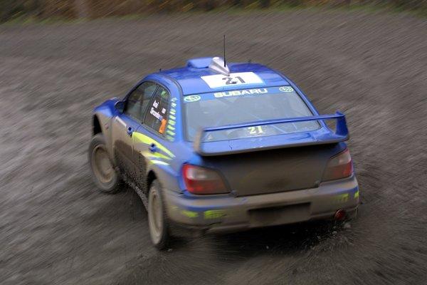 2001 FIA World Rally Championship.Rally Of Great Britain. Cardiff, Wales. November 22-25th.Toshi Arai, Subaru Impreza WRCStage Nine.Photo: Paul Dowker/LAT Photographic.World - LAT Photographic.