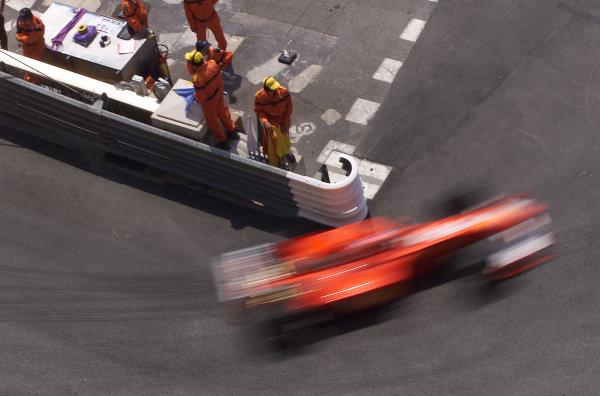 2000 Monaco Grand Prix.Monte Carlo, Monaco.1-4 June 2000.Rubens Barrichello (Ferrari F1-2000) 2nd position.World Copyright - LAT Photographic